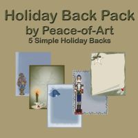 Holiday Backs Pack by Peace-of-Art