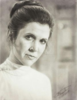 Carrie Fisher - Goodbye Princess by Tokiiolicious