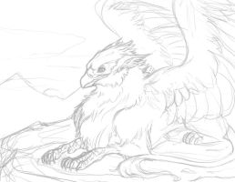 Gryphon WIP by insanitation