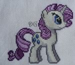 Rarity embroidery (My Little Pony) by didi-gemini
