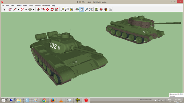 T-54/85 without T-54 Track Armour Screens by withinamnesia