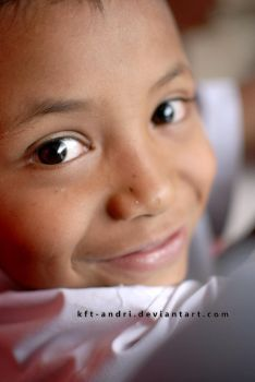 smiled with child by KFT-Andri