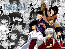 Inuyasha all members by Inucat