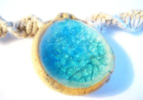 Recycled Glass Ceramic Pendant by Phathemp