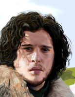 Game of Thrones Jon Snow photostudy by misslapin