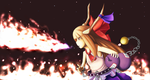 Suika used flamethrower by Suweeka