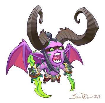 Cute but Deadly ILLIDAN by NorseChowder