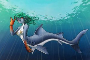 Mershark Girl by gamera1985