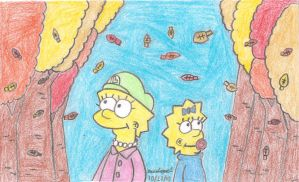 Lisa and Maggie's Fall Season by MarioSimpson1