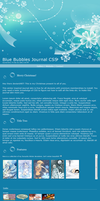 Blue Bubbles CSS by Anjellyjoy