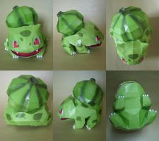 shiny bulbasaur papercraft by Master-Kankuro