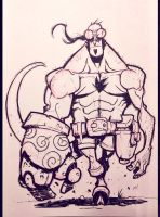 Inktober 2014 - Day 1 - Hellboy by Zatransis