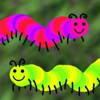 The Happy Caterpillars by PhoenixLumbre