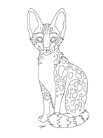 Serval or Wildcat Lines MS Paint by TikamiHasMoved