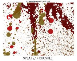 PHOTOSHOP BRUSHES : splats by darkmercy