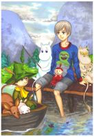APH: Fishing with a Moomins by momofukuu
