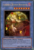 Golden Witch Beatrice Card 002 by ElderKain