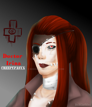 Realistic Dr Irina with Eye patch (finished) by BoXGirlVivi