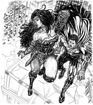 Wonder Woman  Superman by guilhermerw