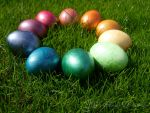 Rainbow Easter Eggs by Yuki-Almasy