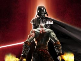 Kratos vs Darth Vader by WitaloBDesign