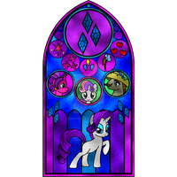 Rarity Stained Glass Window by Earthstar01