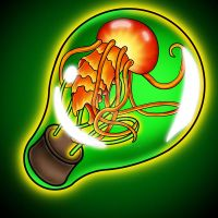 Light-bulb Jellyfish by Heavy-metal-ink