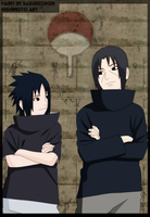 Itachi and Sasuke by sasukeoron