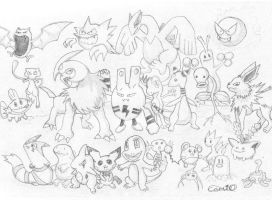 Pokemon no colour by Carlie-NuclearZombie