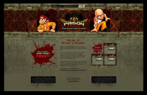 Web design: Prison Struggle by SOSFactory