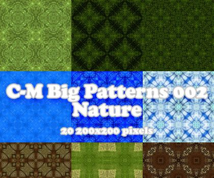 C-M Big Patterns 002 - Nature by crowned-meadow