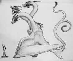 King Ghidorah design  by artisticallyautistic