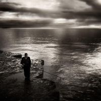 Fisherman in black.. by denis2