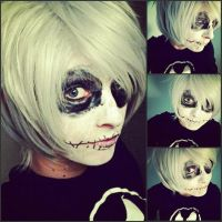 Jack Skellington Makeup by FluffySora