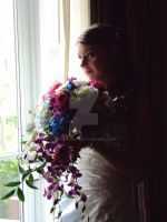 Bride and Bouquet by RaCzarina