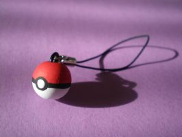 Pokeball Charm by Omonomopoeia