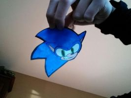 just a floating sonic head by W-O-L-F-L-O-V-E