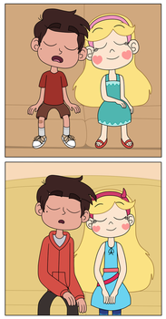 Star and Marco in the recreation of best friends by Deaf-Machbot