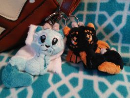 Draco foxes key chains *close up* by Gracyn