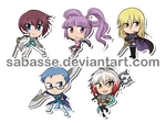 Tales of Graces Chibis by SaBasse