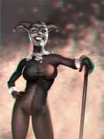 Harley Quinn 3-D conversion by MVRamsey
