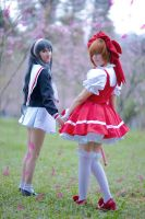 Sakura Kinomoto and Tomoyo by LollipopBunnie