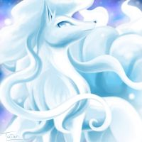 Alolan Ninetales Pokemon Sun Pokemon Moon by tatanRG