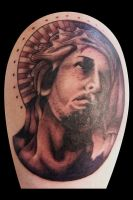 Tattoos by Heath Reed- Jesus2 by heathwreed