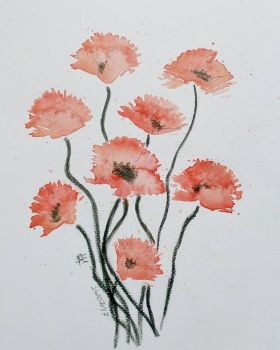 Poppies by Lu-Maria-Aristry