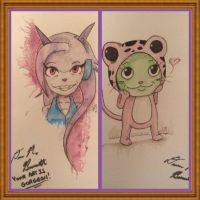 Lilac and Frosch by HaleyKlineArt