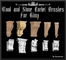 Wood and Stone Corbel Brushes by Geosammy