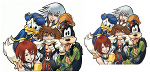 Kingdom hearts group by ConkerTSquirrel