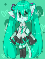 Hatsune, Miku as a Furry~ by KurisuXGrellSutcliff
