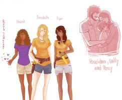 Hazel, Annabeth, Piper and Poseidon's family by Sophia-lionheart